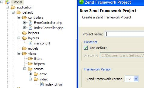 Use Zend Studio wizard to create an empty Zend Framewrok project